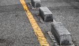 Concrete road side border blocks - 212887398