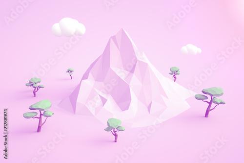 Poster Lowpoly landscape