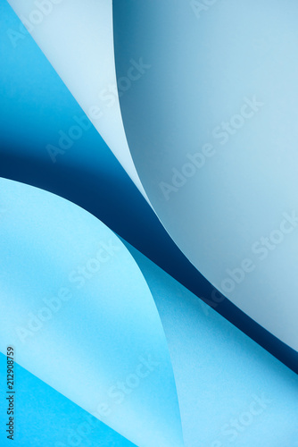 close-up view of beautiful bright blue creative paper background