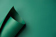 Quadro close-up view of beautiful bright abstract green paper background