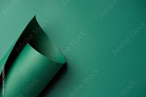 Close-up widok piękny jaskrawy abstrakcjonistyczny zielonego papieru tło