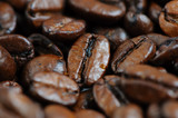 roasted coffee beans macro background