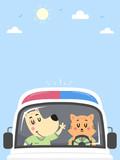 Dog Cat Ambulance Background Illustration - 212911569