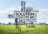 Business conceptual words as keys to success and company growth - 212916578