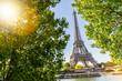 Eiffel Tower in Paris at summer