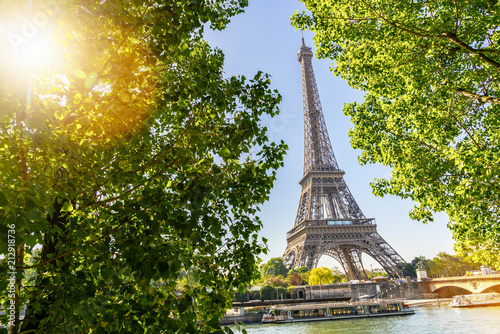 Eiffel Tower in Paris at summer - 212918736