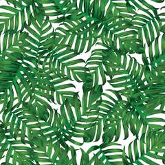 Palm Monstera Seamless Pattern.