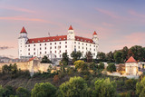 Wonderful impression of Bratislava castle (Slovakia, Europe) on summer sunset - 212927143