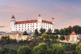 Wonderful impression of Bratislava castle (Slovakia, Europe) on summer sunset