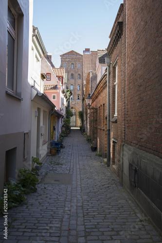 Fotobehang Smalle straatjes Altstadt Lübeck
