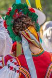 Detail of Ukrainian folk costume for women - 212929119