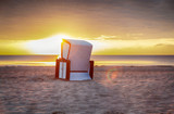 Urlaub - Sonnenaufgang - Strandkorb - Sand - Insel Usedom