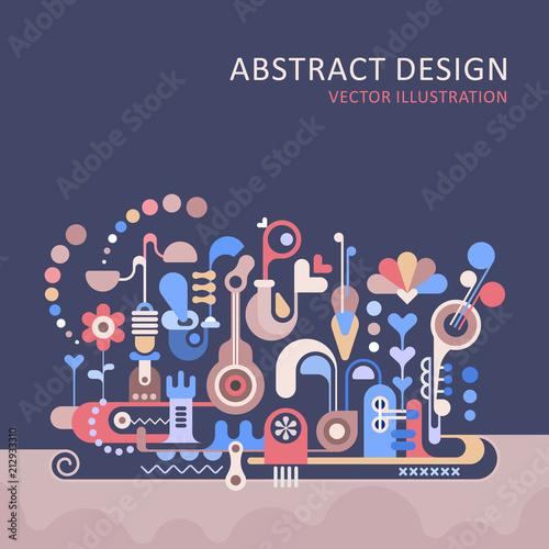 In de dag Abstractie Art Abstract Design background