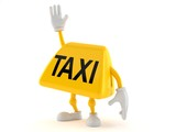 Taxi character with hand up - 212937167