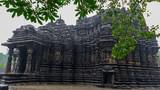 Image of Ambreshwar Shiv Temple In Heavy Rain, Full shot, Historic 11th-century Hindu temple, Ambarnath, Maharashtra, India - 212938353