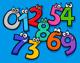 basic numbers cartoon characters group - 212938955