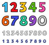 basic numbers cartoon characters set - 212938960