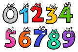 basic numbers cartoon characters set - 212938970
