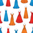 Pattern of the evening dresses - 212944959