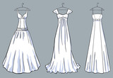A set of the white dresses for a celebration
