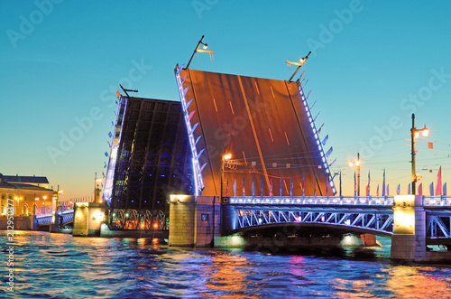 Poster The drawbridges of St. Petersburg.