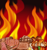 A Steak and Fire Border - 212952928
