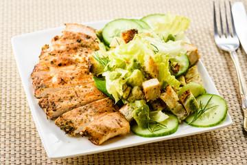 Chicken breast salad,