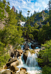 Waterfall by Yosemite