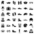 Season accessories icons set. Simple style of 36 season accessories vector icons for web isolated on white background