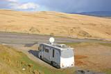 Camper van in the Black mountains, Wales - 212962778