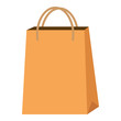 market paper bag icon vector illustration design