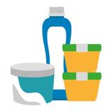 set bottles products icon vector illustration design - 212963375