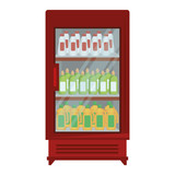 supermarket refrigerator with products vector illustration design - 212963531