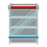 supermarket refrigerator empty icon vector illustration design - 212963585