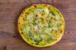 Pizza with pesto