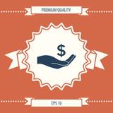 Money in hand, dollar symbol icon - 212977597