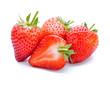 Leinwanddruck Bild - Strawberry isolated on white background.