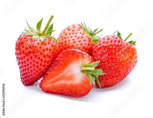 Leinwanddruck Bild Strawberry isolated on white background.