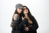 Freedom concept. Sensual woman hug girlfriend lover, freedom. Personal freedoms. Freedom is a female force - 212997735