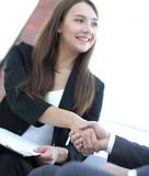 Business handshake ,congratulations or Partnership concept. - 213005930