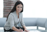 business woman working with documents in the office - 213008723