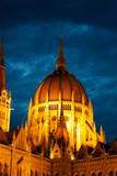 Budapest Hungarian Parliament at night - 213013701
