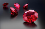 Ruby group on gradient background 3d rendering. - 213016948