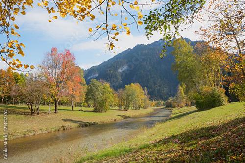 Plexiglas Herfst Herbstidylle an der Ammer