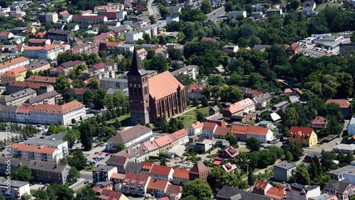 Obraz na płótnie Pasewalk, Zentrum mit St. Marien-Kirche