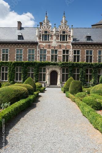 Sticker Gaasbeek Castle in Flanders, seen in a day trip from Brussels, Belgium