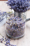 Dried lavender on the table - 213028756