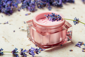 natural facial cream with lavender © fotofabrika