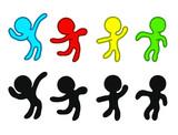 Dancing carater vector - 213037153