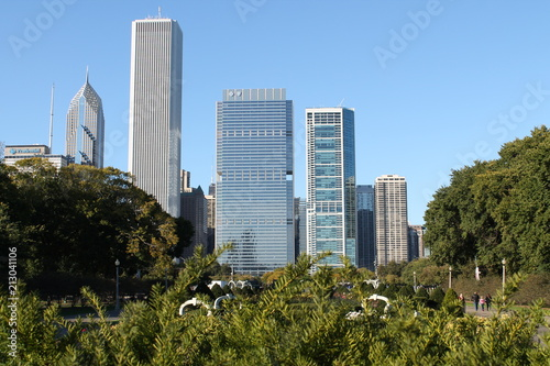 Foto Murales Building view, skyline, from river